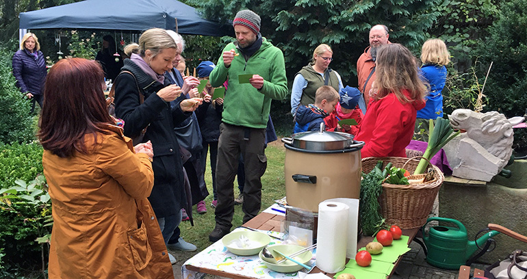 Apfelfest-Suppenprobe